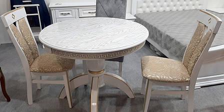 Стол обеденный Престиж Микс мебель, цвет  белый + патина, фото 2