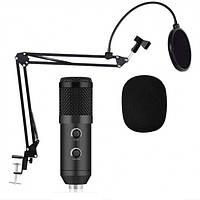 Микрофон Студийный Music D.J. M - 800U со стойкой и ветрозащитой черный