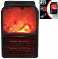 Портативный мини электрообогреватель Flame Heater имитация камина с пультом 500 Вт, в офис, дом New Original Черный
