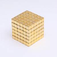 Магнитный конструктор Неокуб антистресс тетракуб neocube Золотистый tetracube