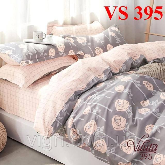 Постельное белье двуспальное, сатин, Вилюта «Viluta» VS 395
