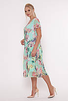 Плаття літнє нежарке вільного крою великі розміри, розмір 52-58, фото 3