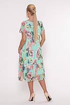 Плаття літнє нежарке вільного крою великі розміри, розмір 52-58, фото 2