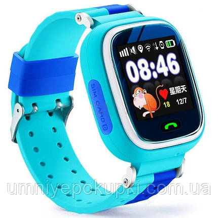 Смарт часы Smart Watch Q80 c GPS Light Blue, фото 2