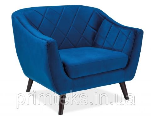 Кресло Molly Velvet 1 ( Молли Вельвет 1 синий)