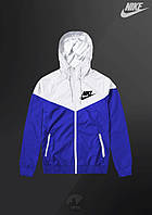 Ветровка Nike Windrunner Jacket (Бело-синий)