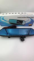Автомобільний реєстратор дзеркало Blaсkbox DVR AK47 відеореєстратор з камерою заднього виду, фото 2