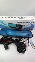 Автомобільний реєстратор дзеркало Blaсkbox DVR AK47 відеореєстратор з камерою заднього виду, фото 3