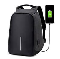 Рюкзак Bobby Антивор для ноутбука Бобби с USB разъемом Черный + Подарок Нож Кредитка