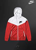 Ветровка Nike Windrunner Jacket (Бело-красный)