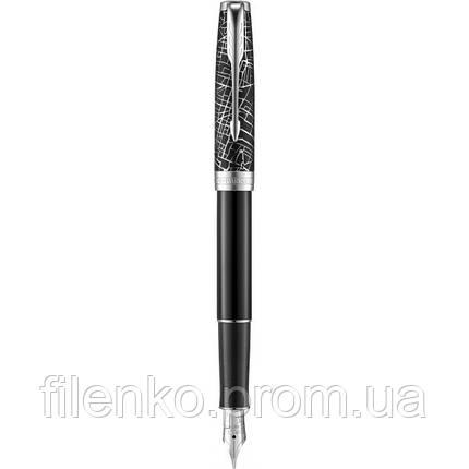 Ручка перьевая Parker SONNET 17 SE Metro Паркер PT Черный  (87 911), фото 2