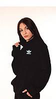 Худи чёрный с светоотражающим логотипом Adidas