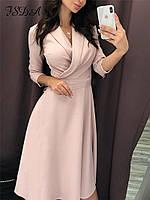 Офисное платье на запах красивое