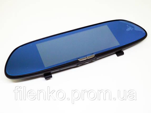 Зеркало регистратор DVR H10 PRO 1080P Экран 7 дюймов 2 камеры автомобильный видеорегистратор Чёрный, фото 2