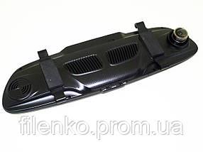 Зеркало регистратор DVR H10 PRO 1080P Экран 7 дюймов 2 камеры автомобильный видеорегистратор Чёрный, фото 3