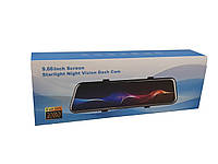 Автомобильный видеорегистратор DVR L900 Full HD регистратор экран 9.66 дюйма Черный