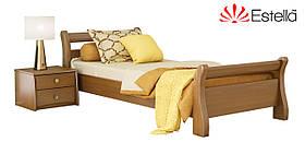 """Односпальне ліжко """"Діана"""" з бука (щит, масив)"""