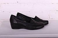 Кожаные женские туфли на небольшой танкетке 4см, фото 1