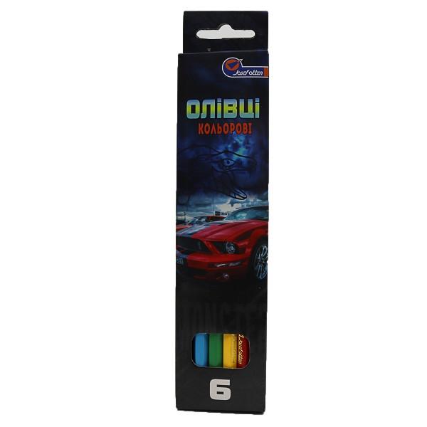 """Карандаши цветные J. Otten """"Mustang"""", деревянные, 6 цветов, 7303CZ_6"""