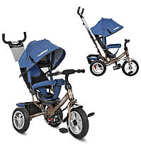 Детскийтрехколесный велосипед turbo trike М 3113АJ-13 джинс