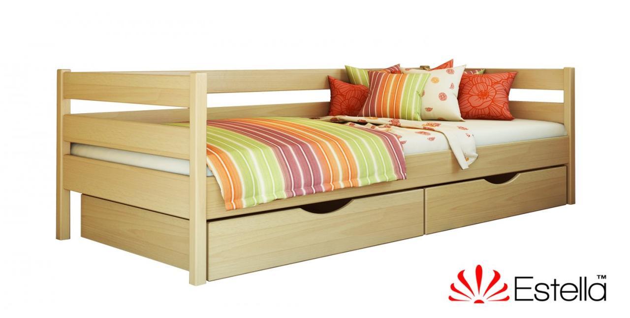 """Односпальная кровать """"Нота"""" из бука (щит, массив)"""