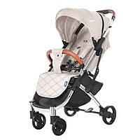 Удобная детская прогулочная коляска бежевая Tilly Comfort + москитная сетка + чехол накидка + подстаканник