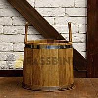 Ушат для бани Fassbinder дубовый, 12 литров hotdeal