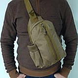 Тактическая сумка-рюкзак, барсетка, бананка на одной лямке. Койот. T-Bag 447, фото 8