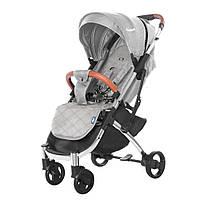 Удобная детская прогулочная коляска светло-серая Tilly Comfort + москитная сетка + чехол накидка +подстаканник