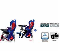 Детское велокресло на багажник, регулировка подножки. 4 цвета TILLY T-831/1