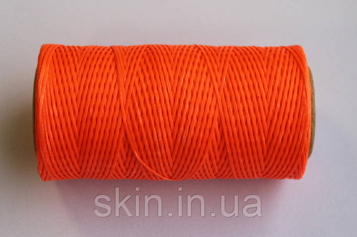 Нитка вощёная, плоская, оранжевого цвета, толщина - 1 мм, 130 метров, артикул СК 5612, фото 2