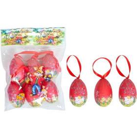 Набор Яйца декоративные 6шт с ленточкой 6см B112-2W12