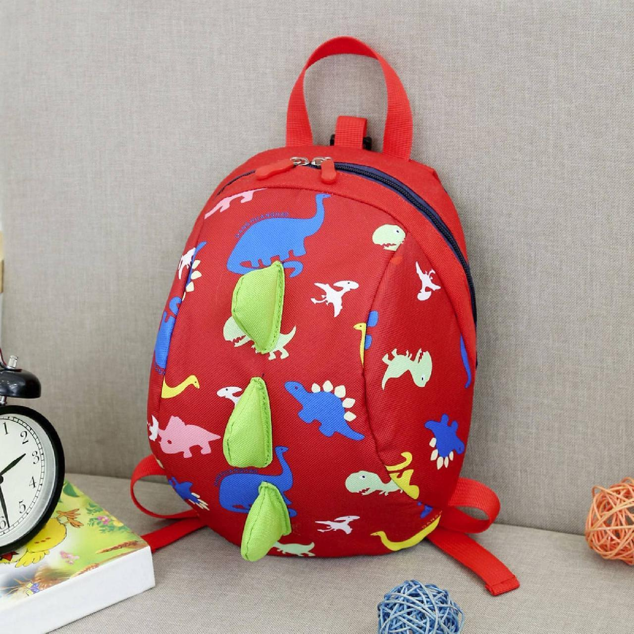 Дитячий рюкзак, червоний. Динозавр