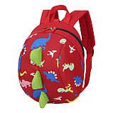 Дитячий рюкзак, червоний. Динозавр, фото 2