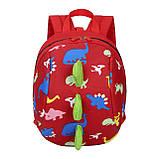 Дитячий рюкзак, червоний. Динозавр, фото 3