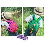 Дитячий рюкзак, червоний. Динозавр, фото 4