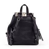 Женский стильный рюкзак  PRIMA K8791-2 BLACK GRAY 2019 /// SNAKE, фото 2