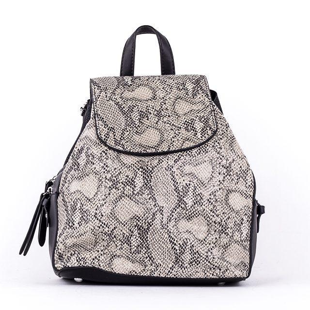 Женский стильный рюкзак  PRIMA K8791-2 BLACK GRAY 2019 /// SNAKE