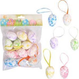 Набор Яйца декоративные 12шт с ленточкой 4см HA-413