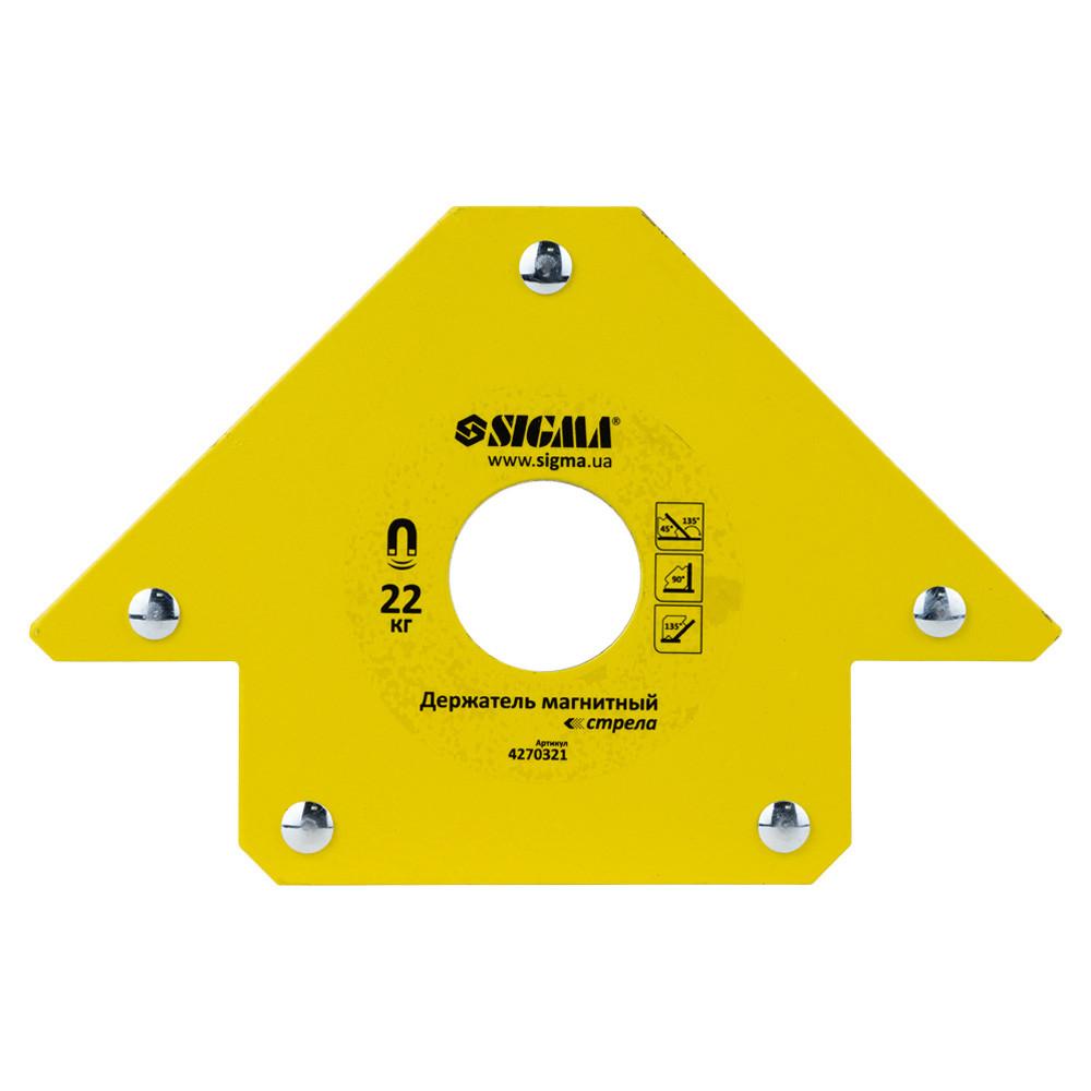 Магнит для сварки стрела 22кг 90×90 мм (45,90,135°) SIGMA (4270321)
