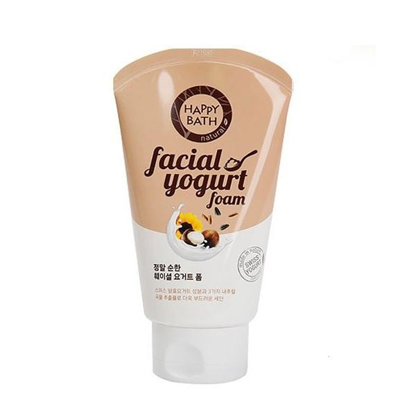 Пенка для чувствительной кожи со злаками и орехами Happy Bath Facial Yogurt Mild Grain Essence, 120мл