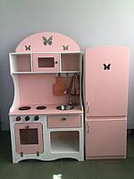 Детская игровая кухня и холодильник для девочки или мальчика из безопасных материалов