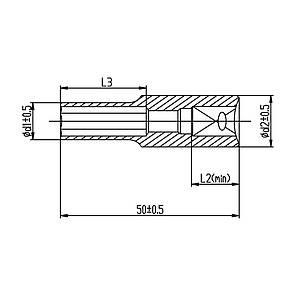 """Насадка шестигранная длинная 1/4"""" 7мм CrV ULTRA (6062072), фото 2"""