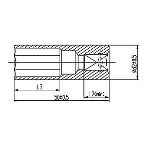 """Насадка шестигранная длинная 1/4"""" 11мм CrV ULTRA (6062112), фото 2"""