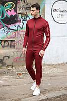 Спортивный костюм мужской весенний осенний с лампасами красный, фото 1