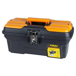 Ящик для инструмента (металлические замки) 434×239×194мм Sigma (7403661), фото 2