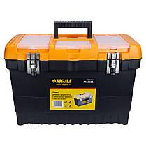 Ящик для инструмента (металлические замки) 486×267×320мм SIGMA (7403551), фото 2