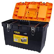 Ящик для инструмента (металлические замки) 486×267×320мм SIGMA (7403551), фото 3