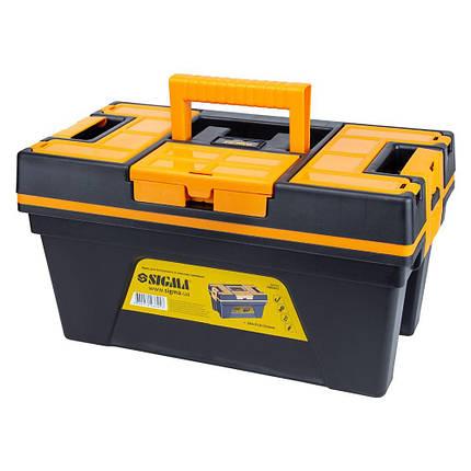 Ящик для инструмента со съёмной крышкой 394×213×216мм SIGMA (7403691), фото 2
