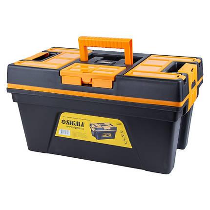 Ящик для инструмента со съёмной крышкой 460×246×246мм SIGMA (7403701), фото 2